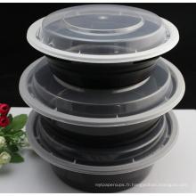 Récipient jetable en plastique jetable micro-ondes de nourriture pour nous