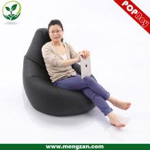 Chaise grand format en cuir en caoutchouc PU, canapé en haricot pour adultes