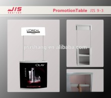 JIS9-3 economic 28*77cm customised advertising trade show display promotion usage plastic folding tables