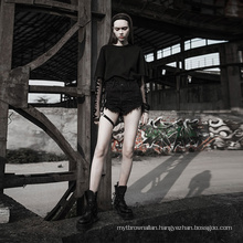 OPK-210 PUNK RAVE  punk shorts casual shorts women street style Metal shorts women