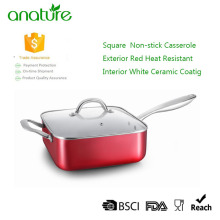 Bestseller Red Nonstick Square Deep Casserole