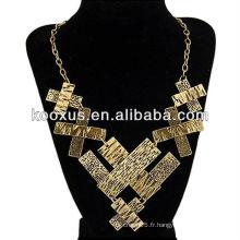 Collier bijoux en or doré africain