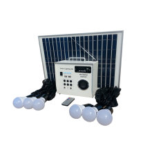 DC18V 10W solar lighting system with FM radio