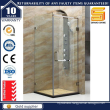 SUS 304 Hinged Frameless Shower Screen for Hotels Projects