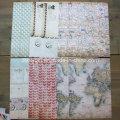 Scrapbook DIY náutico Rose Patterned Paper Craft Scrapbooking Handmade Scrapbook Paper Pack A5