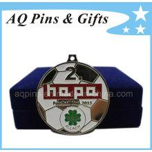Medalla de fútbol con suave color esmalte