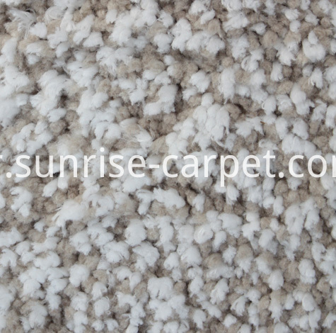 Microfiber Shaggy Rug Beige and White color mix