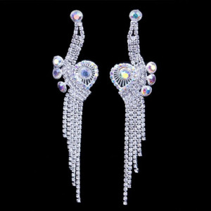 Rhinestone Snail Shaped Princess Earrings