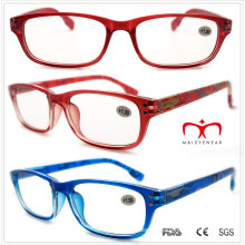 Plastic Reading Glasses with Colorful Banding Pattern (WRP508336)