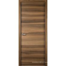 Madeira rústica folheado natural e projetada personalizada da porta de entrada do projeto