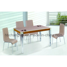 Modern Chrome Leg Dining Table and Chair Dt-C326