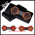 Mens Fancy Neckwear Large Handcraft Wooden Bow Tie with Silk Straps