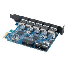 ORICO PVU3-5O2I Booster USB 3.0 5 Port + USB3.0 20PIN PCI-Express Card