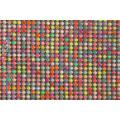 Aluminum mesh mix color resin rhinestone mesh roll