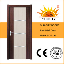 Porta interior do toalete do PVC dos projetos modernos (SC-P191)