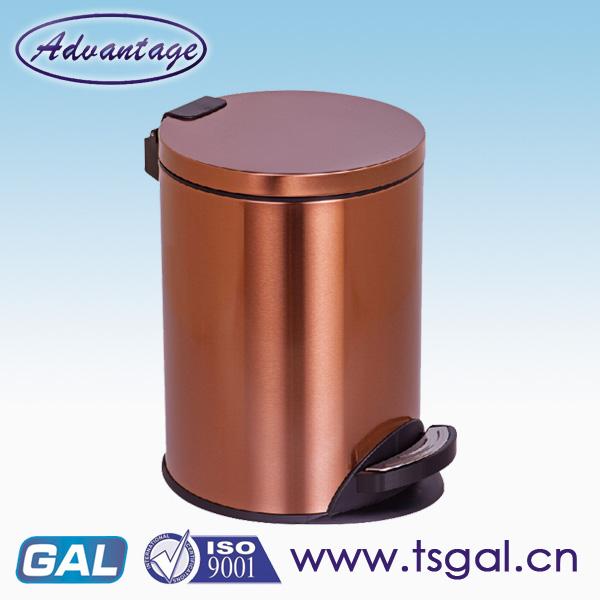 Stainless steel skinny trash can