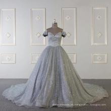 Baiyi por encargo vestido de noche de lujo musulmán gris 2018 WT508