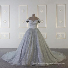 Baiyi Custom made gray muslim luxury evening gown 2018 WT508