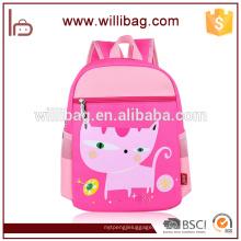 Sacos de escola relativos à promoção da menina da trouxa da escola do gato cor-de-rosa para a criança