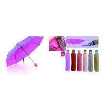 Parapluies pliables de tissu changeant de tissu de couleur (YS-3FD22083511R)