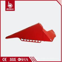 Interruptor estándar de la válvula de bola de la tubería pequeño Cerraduras de la seguridad, bloqueo de la válvula de bola brady, BD-F04, conveniente para las pipas de 38.1mm a 76.2mm