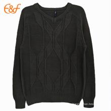 Топ мужские 10 черный свитер Вязание узор бесплатно