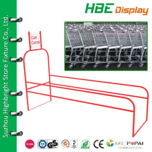 metal cart corral fence for supermarket shopping trolleys