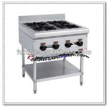 K216 4 brûleurs avec brûleur de cuisinière à gaz sous le plateau en argile