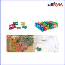 Broches de carte magnétique, pin de couleur claire, crochets d'aimants
