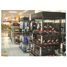 Support d'affichage d'appareil ménager de fil de métal enduit époxyde noir