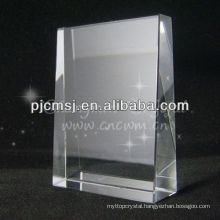 Optical Clear Crystal Slant Block Blank Souvenir Awards