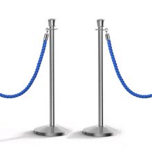 Chrome Stainless Steel Barrier, Stanchion Hotel Barriers Queue Manager/