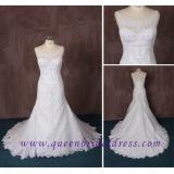 2015 New Scoop Neckline Wedding Dress, Lace Weddding Dresses