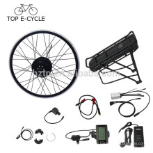 Europe 250W ebike conversion kit 28inch bafang hub motor ebike kit with rear rack battery electric bike conversion kit