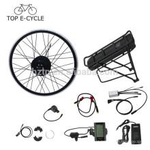 Europa 250 W ebike kit de conversão 28 polegada bafang hub motor ebike kit com kit de conversão de bicicleta elétrica bateria de rack traseiro