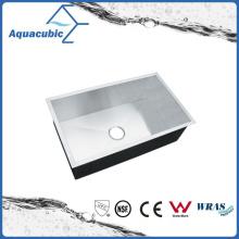 Роскошный рукотворный углу чугунная Кухонная раковина (ACS3218A1)