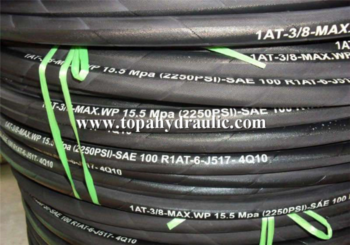 High pressure stainless steel flexible rubber hydraulic hose