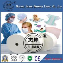 Tissu jetable médical de Spunbond de pp de l'hôpital non tissé