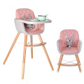 Adjustable Baby to Toddler Wooden High Chair