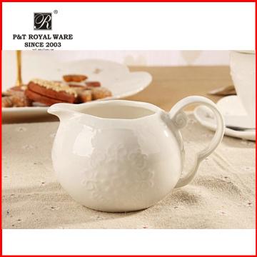 2015 Neuer eleganter Hotel-Nachmittagstee weißer keramischer Milchkrug für Großverkauf