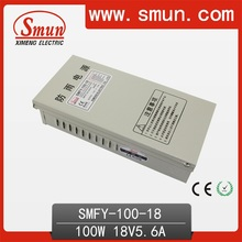 100W 18VDC 5.6A Rainproof Switching Power Supply (SMFY-100-18) with IP40