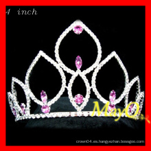 Pink Crystal Pageant Tiara, pequeña princesa Crown