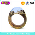 Fashion Jewelry Gold Silver Wedding Secret Wood Men′s Finger Ring