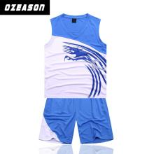 Ozeason Full Dye Sublimation Sky Blue Eco-Friendly Basketball Jersey