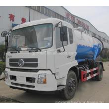 10000 Littles DongFeng TianJin limpieza y camión de alcantarilla de succión / Vacío camión de succión de aguas residuales / camión de succión de aguas residuales