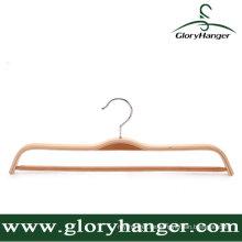 Hight Qualität Sperrholz Kleiderbügel mit Pant Bar