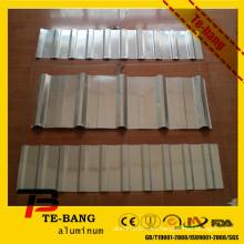 Hoja de plástico ondulado de aluminio