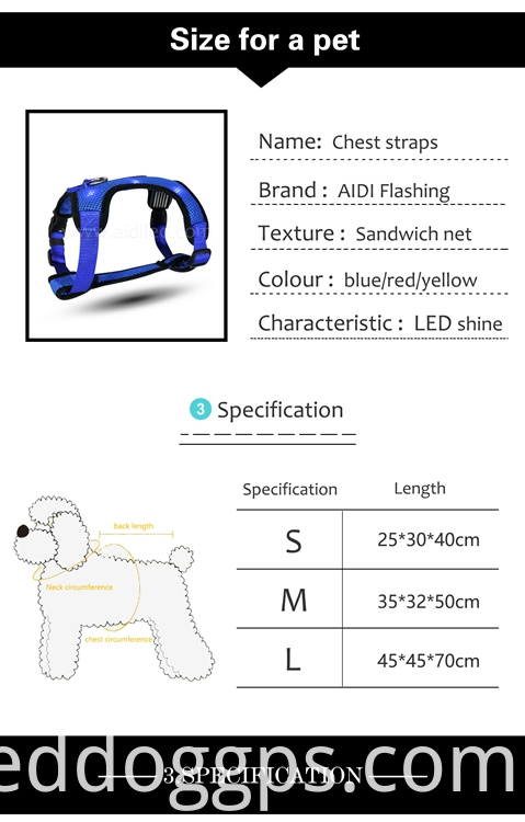 glow up led dog vest