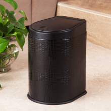 PU Black Style Press Dust Bin (H-3LI)
