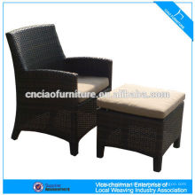 All weather polyester rattan lounge chair